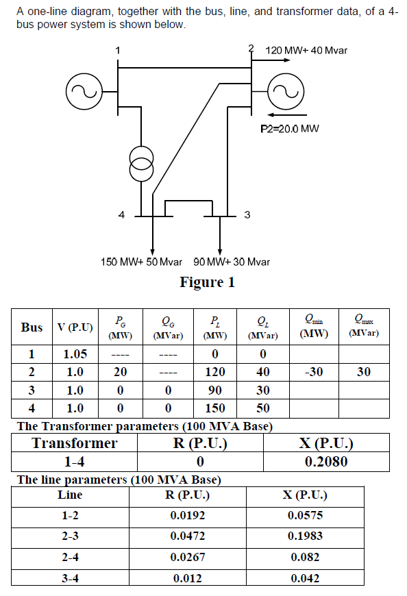 A one line diagram together with the bus line an chegg a one line diagram together with the bus line and transformer data ccuart Images