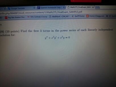 Solved: YSpanih Homework Math2's Final Exam SAM PhpW9940B7