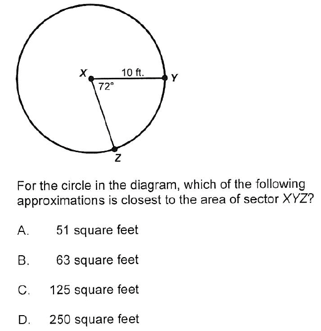 Solved 10 Ft Y 72 For The Circle In The Diagram Which