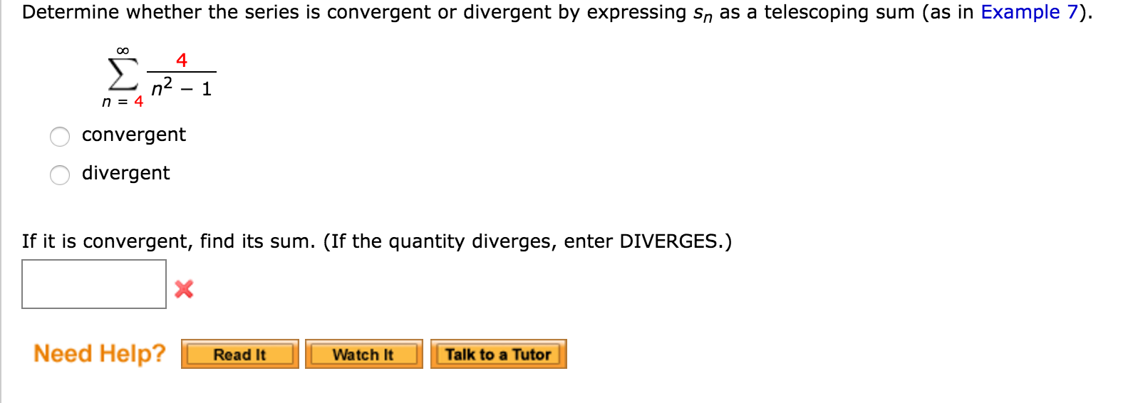 Find the sum of the convergent series calculator