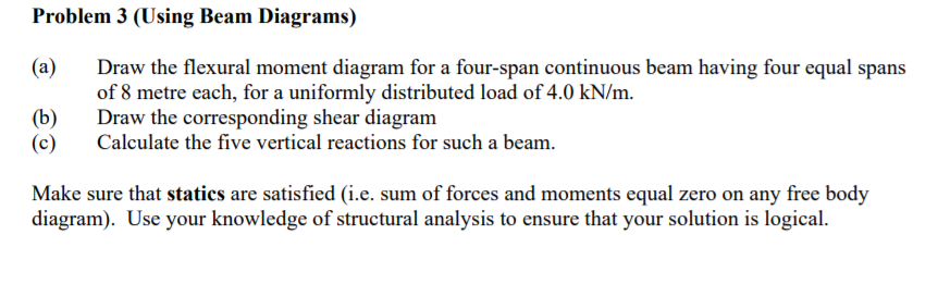 Beam diagram calculator for three equal spans wiring diagrams solved using beam diagrams a draw the flexural moment beam diagram calculator ccuart Images
