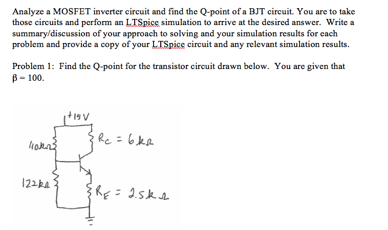 Solved: Analyze A MOSFET Inverter Circuit And Find The Q-p