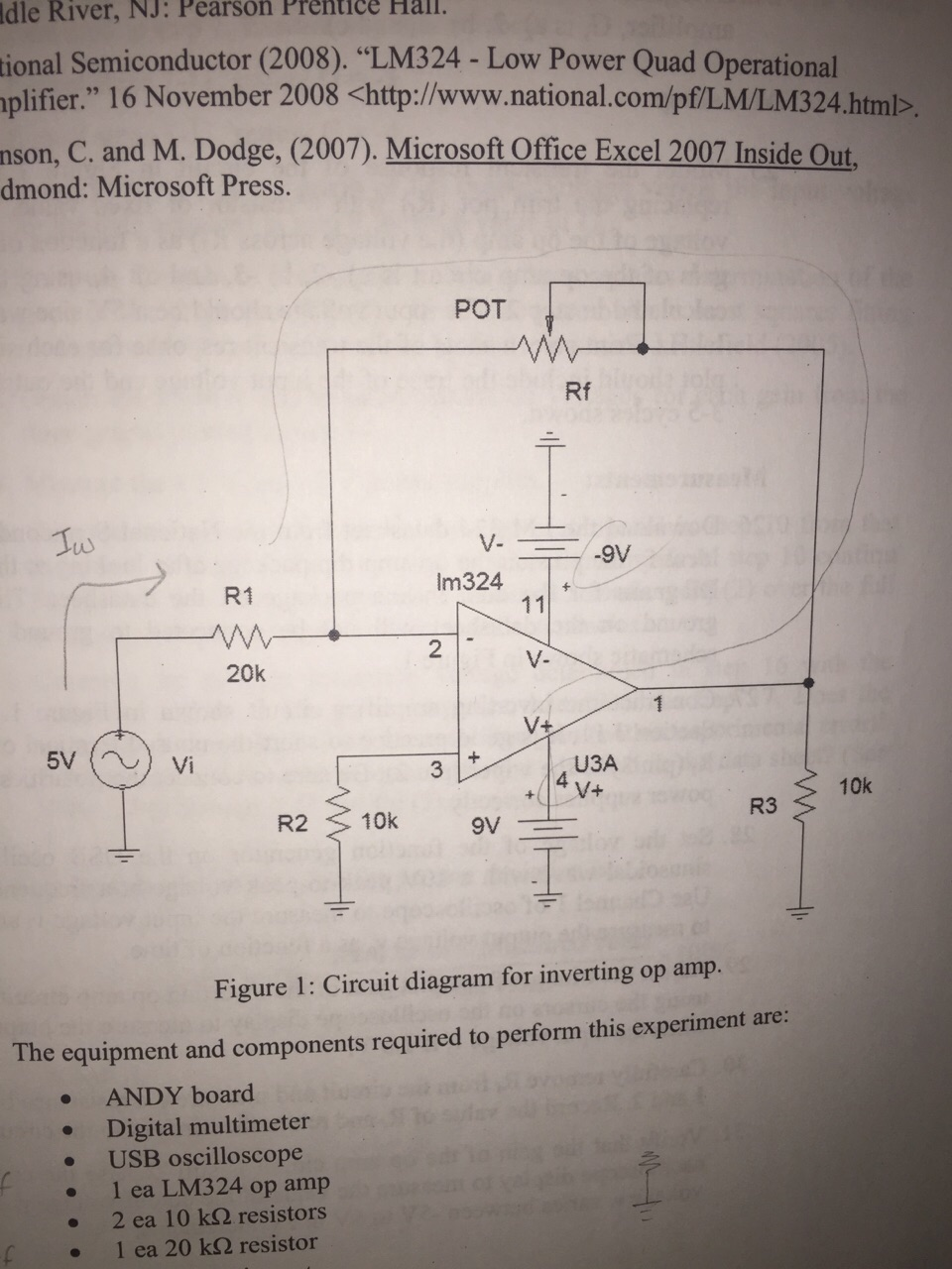 Solved Nalysis 3 Derive The Input To Output Relationshi T Amp Circuit Diagram Relationship Of Amplifier Shown In Figure 1 4 Determine Resistance Values Re Such That Gain