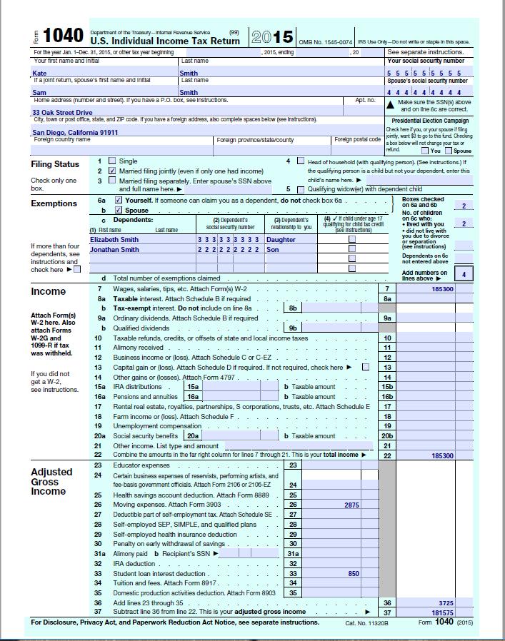 Explain Each Point On The 1040 Form And 1040ata Chegg