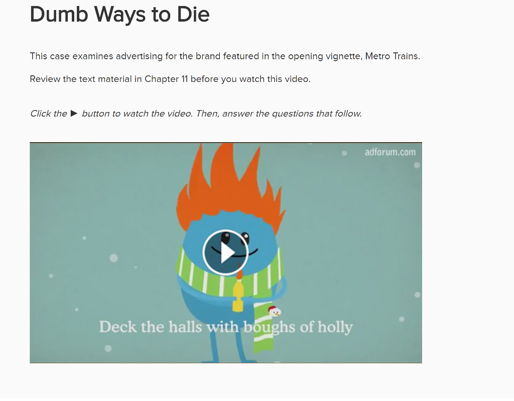 Solved 1e dumb ways to die ad started with a bluepri expert answer malvernweather Gallery