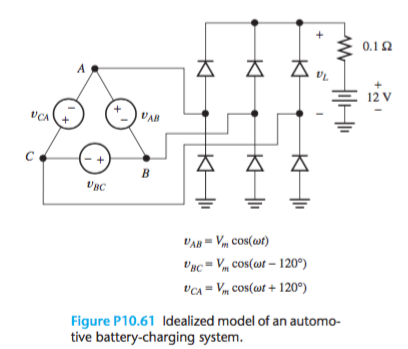Solved: Figure P10 61 Shows The Equivalent Circuit For A T