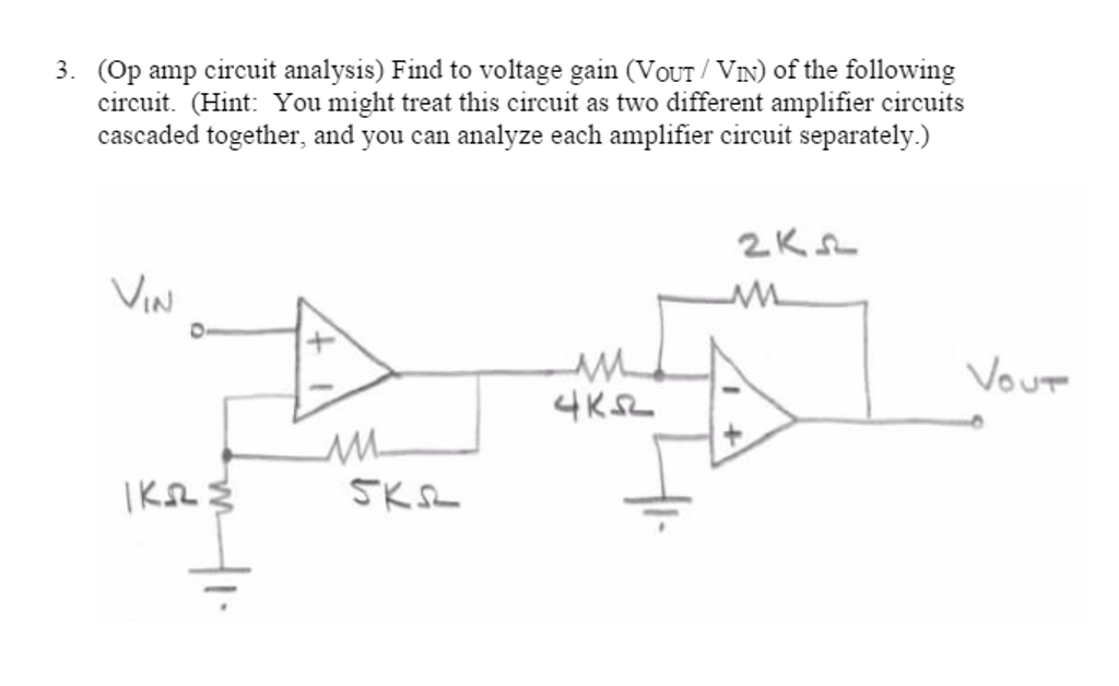 solved op amp circuit analysis find to voltage gain v rh chegg com Op-Amp Circuits Examples Op-Amp Circuits Examples Problems