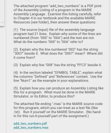 marie code examples