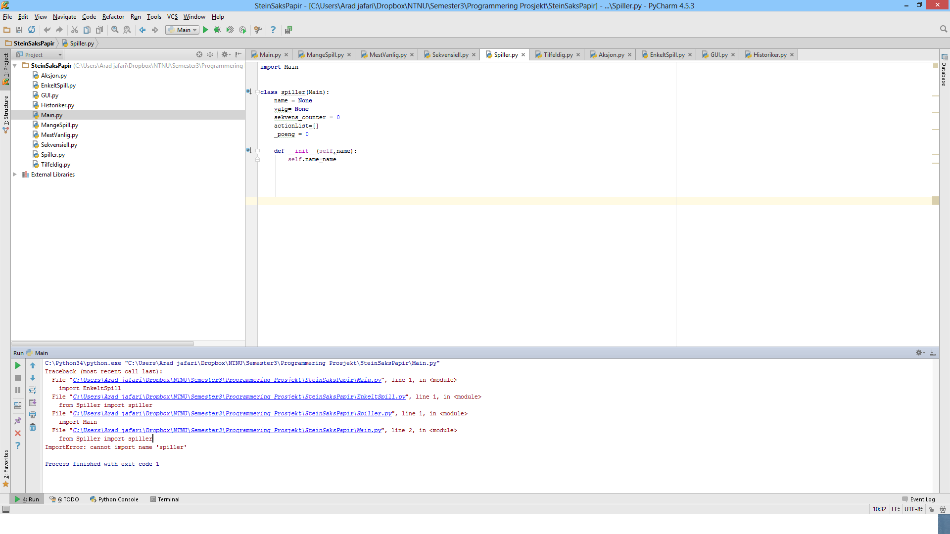 Solved: In Pycharm 4 5 I Get This Error: From Spiller Impo