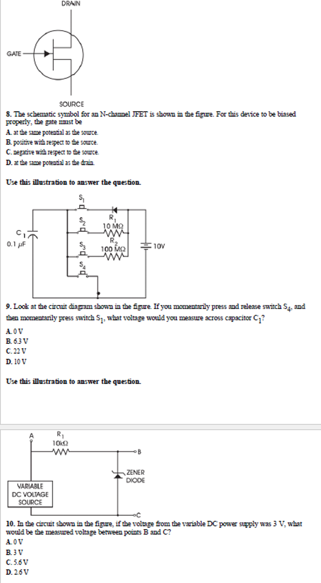 Solved The Schematic Symbol For An N Channel Jfet Is Show And Gate Question Shown In Figure This Device To Be Biased P
