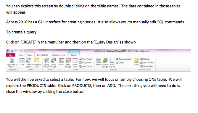 Solved: Part 2 Using Access SQL Queries This Is An Introdu