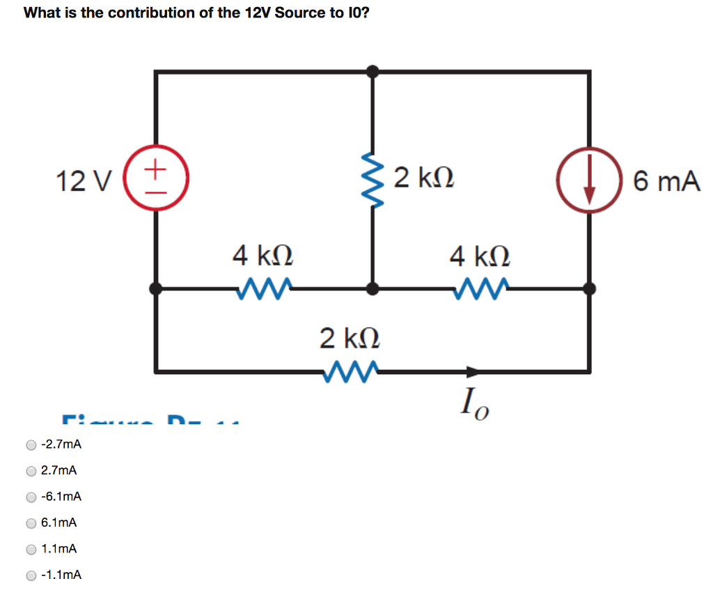 Electrical engineering archive december 04 2017 chegg what is the contribution of the 12v source to 10 6 ma o 27 pooptronica Gallery