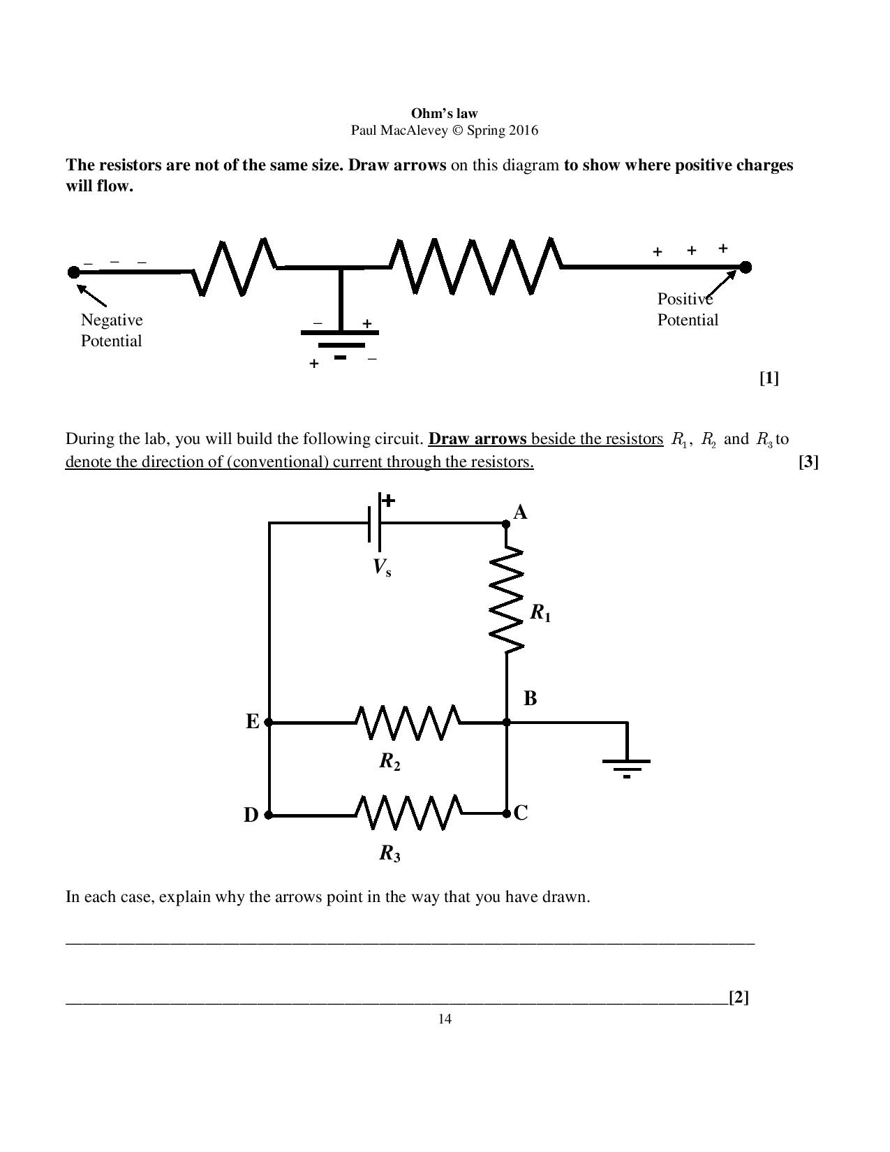 solved the resistors are not of the same size draw arrow rh chegg com circuit diagram arrow Blank Arrow Diagram