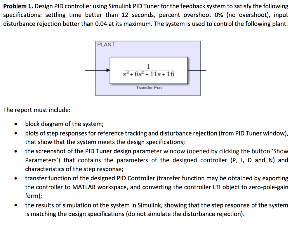 Problem 1  Design PID Controller Using Simulink PI