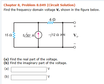 Electrical engineering archive march 15 2018 chegg chapter 8 problem 8049 circuit solution find the frequency domain voltage vo fandeluxe Image collections