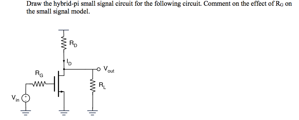 solved draw the hybrid pi small signal circuit for the forelevant equations diode n type mosfet (cut off) p type mosfet (cut off) n type mosfet (triode) p type mosfet (triode) n type mosfet (saturation)