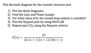 Plot The    Bode       Diagram    For The Transfer Function An