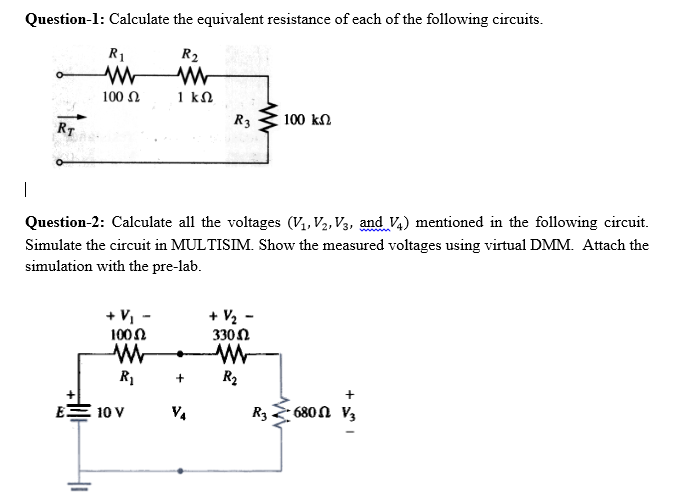 solved question 1 calculate the equivalent resistance of rh chegg com calculate the equivalent resistance of the parallel circuit calculate the equivalent resistance of this circuit between the points a and b