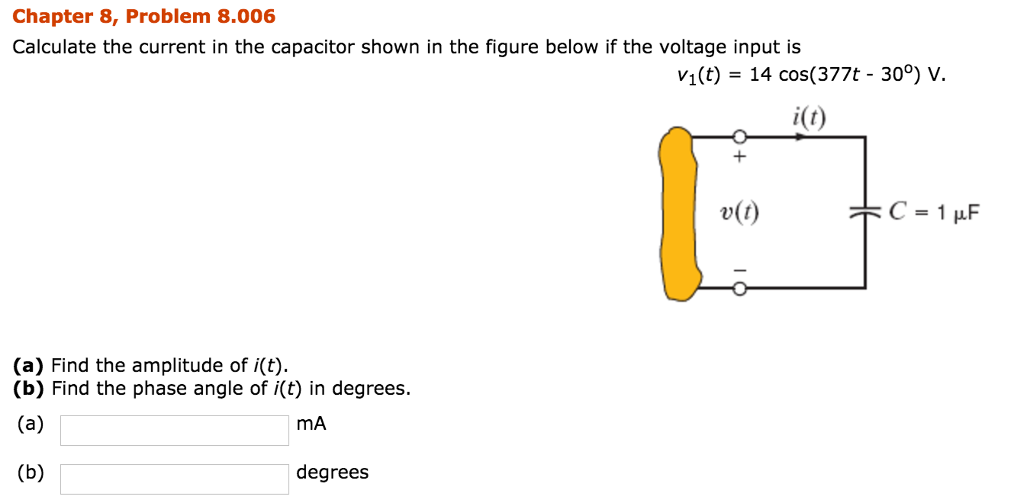 Electrical engineering archive november 20 2016 chegg chapter 8 problem 8001 circuit solution given it 5 cos220t 1200 a determine the period of the current ms the tolerance is 2 fandeluxe Choice Image