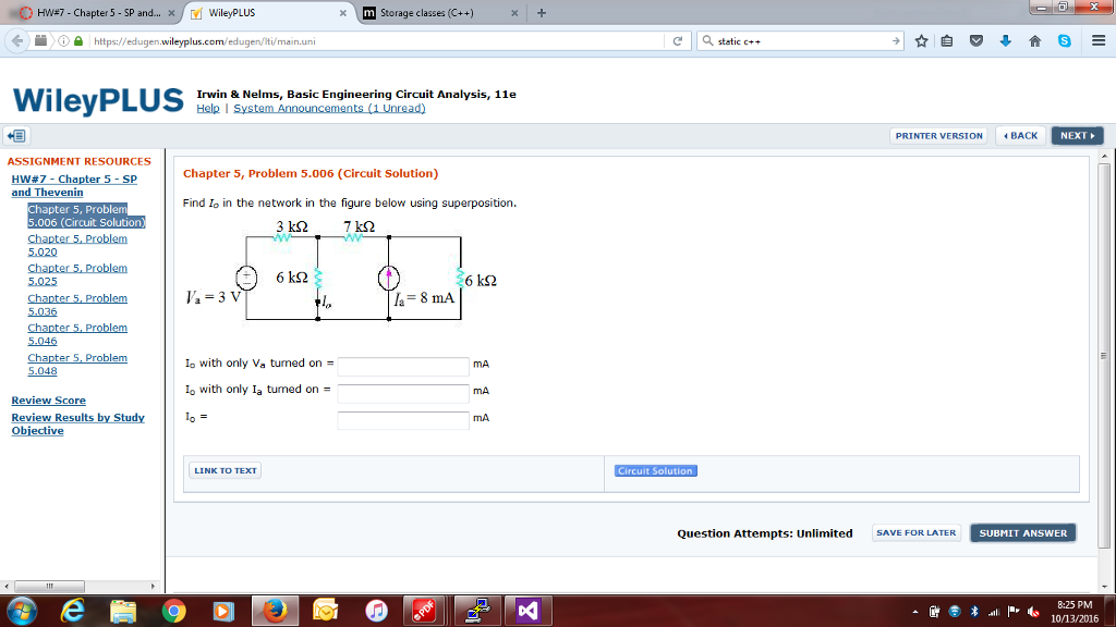 chapter 5 hw problems