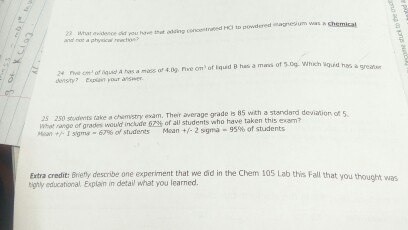 250 Students Take A Chemistry Exam  Their Average