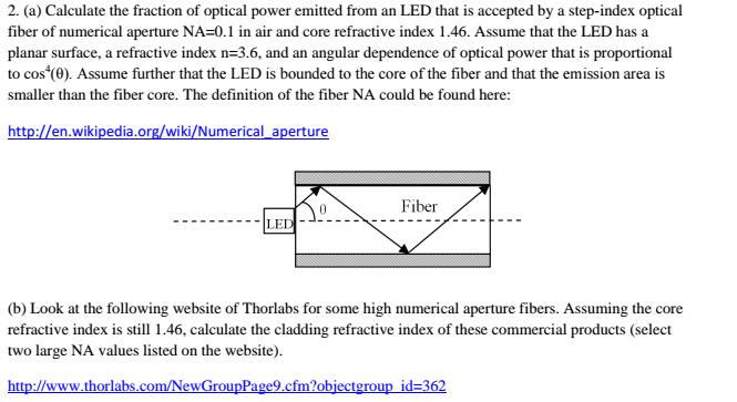 Solved: For (b) Something Like Multimode Optical Fiber ( 3