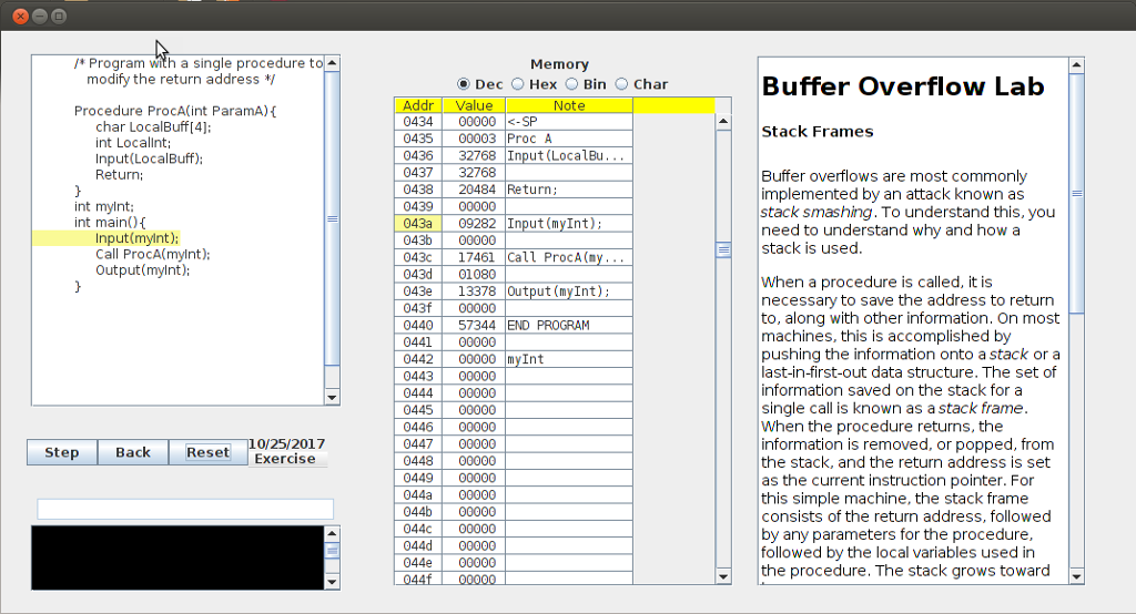 Solved: Buffer Overflow Lab Stack Frames Buffer Overflows ...