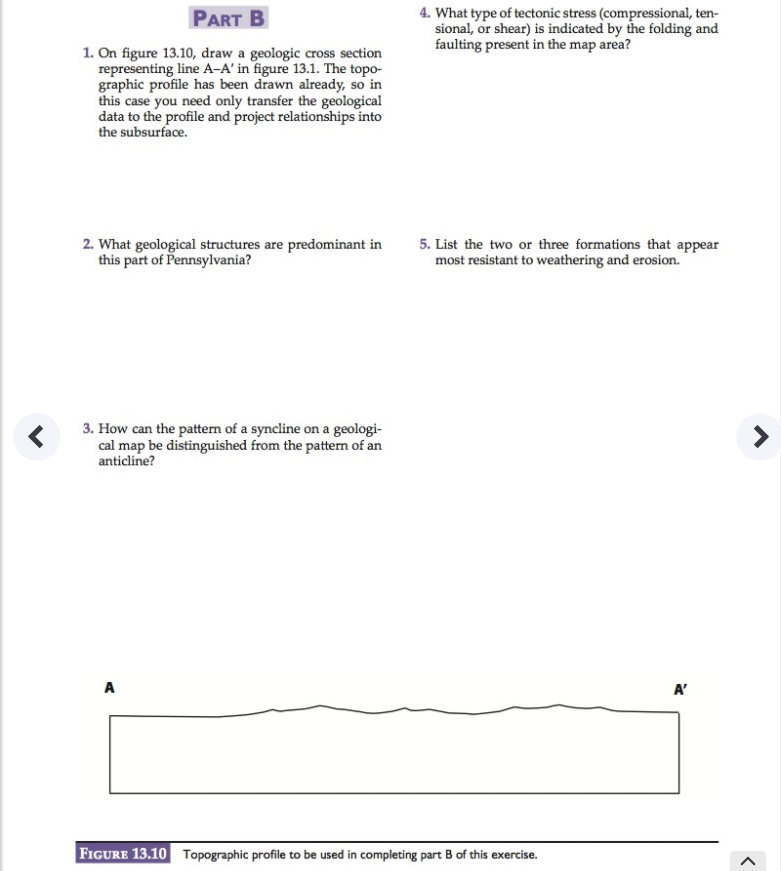 solved part b 4 what type of tectonic stress compressio