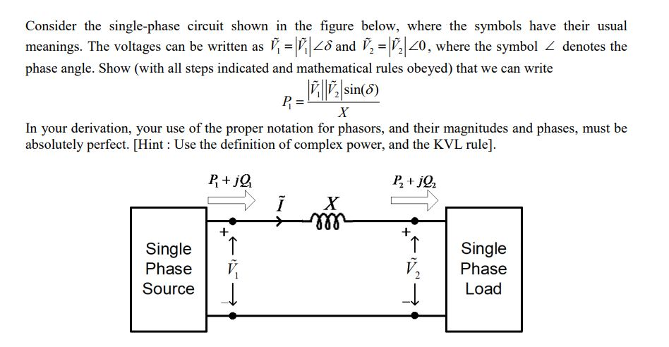 Solved Consider The Single Phase Circuit Shown In The Fig