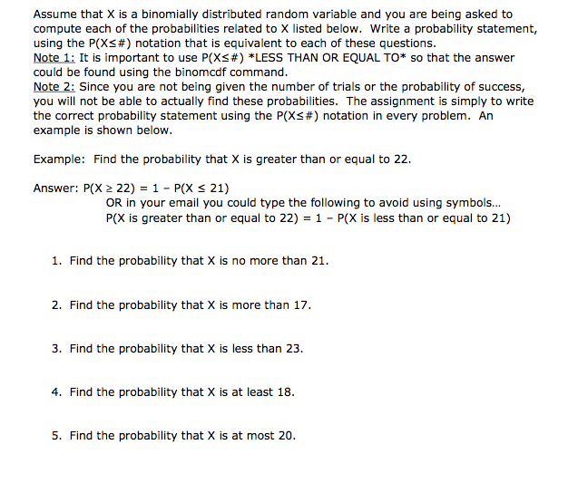 Solved Assume That X Is A Binomially Distributed Random V