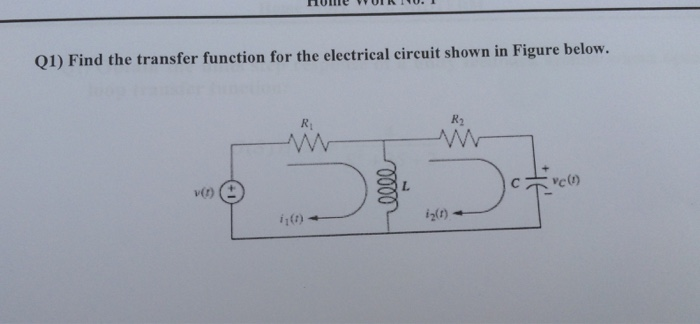 solved find the transfer function for the electrical circfind the transfer function for the electrical circ