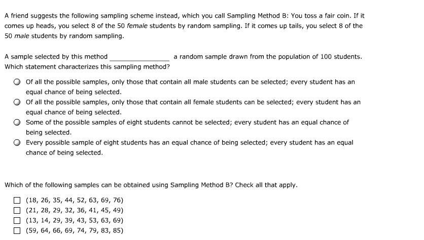 solved you are interested in sampling from a class of 100