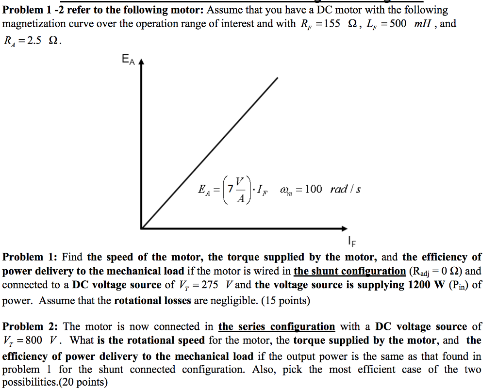 Solved Problem 1 2 Refer To The Following Motor Assume T This Is How I39m Currently Wired That You Have A Dc