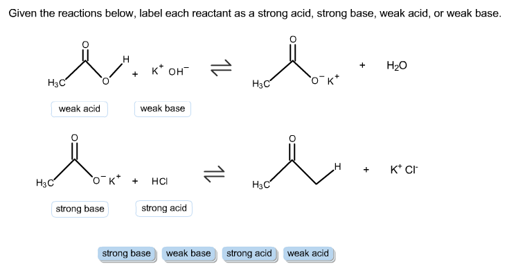 Solved: Given The Reactions Below, Label Each Reactant As ...