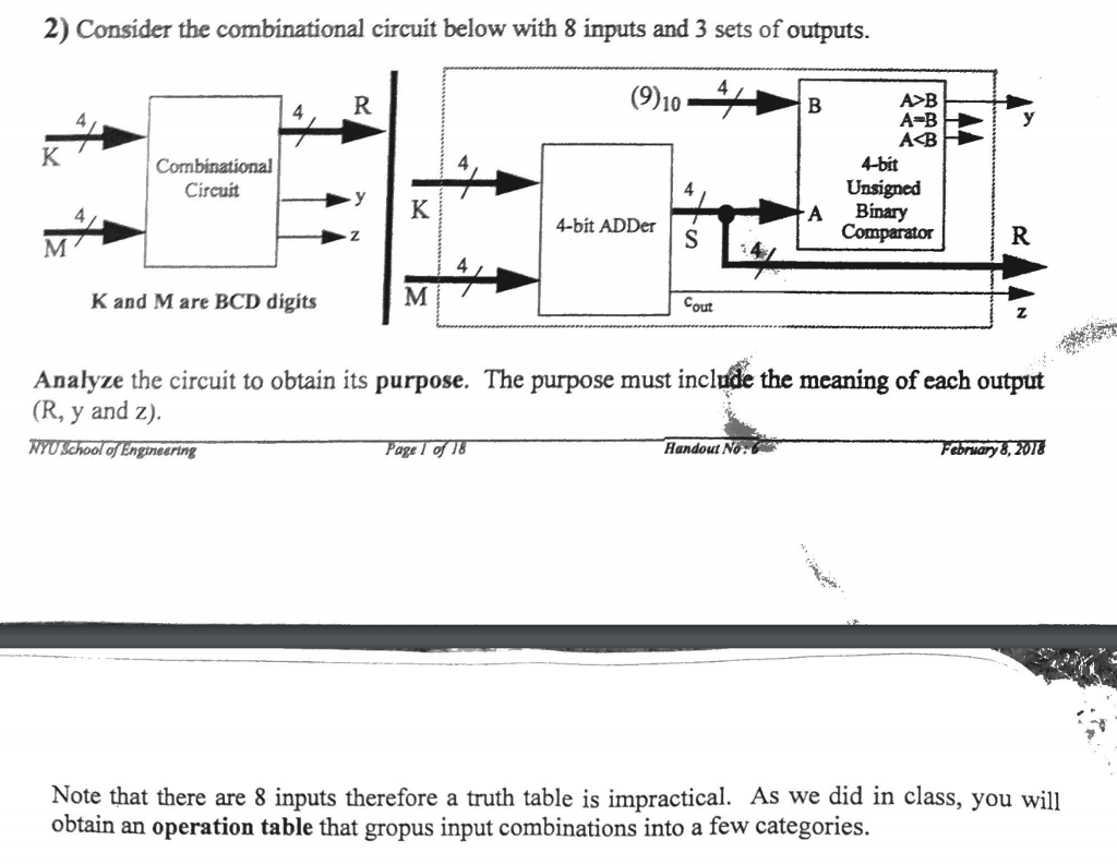 4 Bit Comparator Logic Diagram And Truth Table Trusted Wiring Digital State Machine Design 1 Consider T Chegg Com