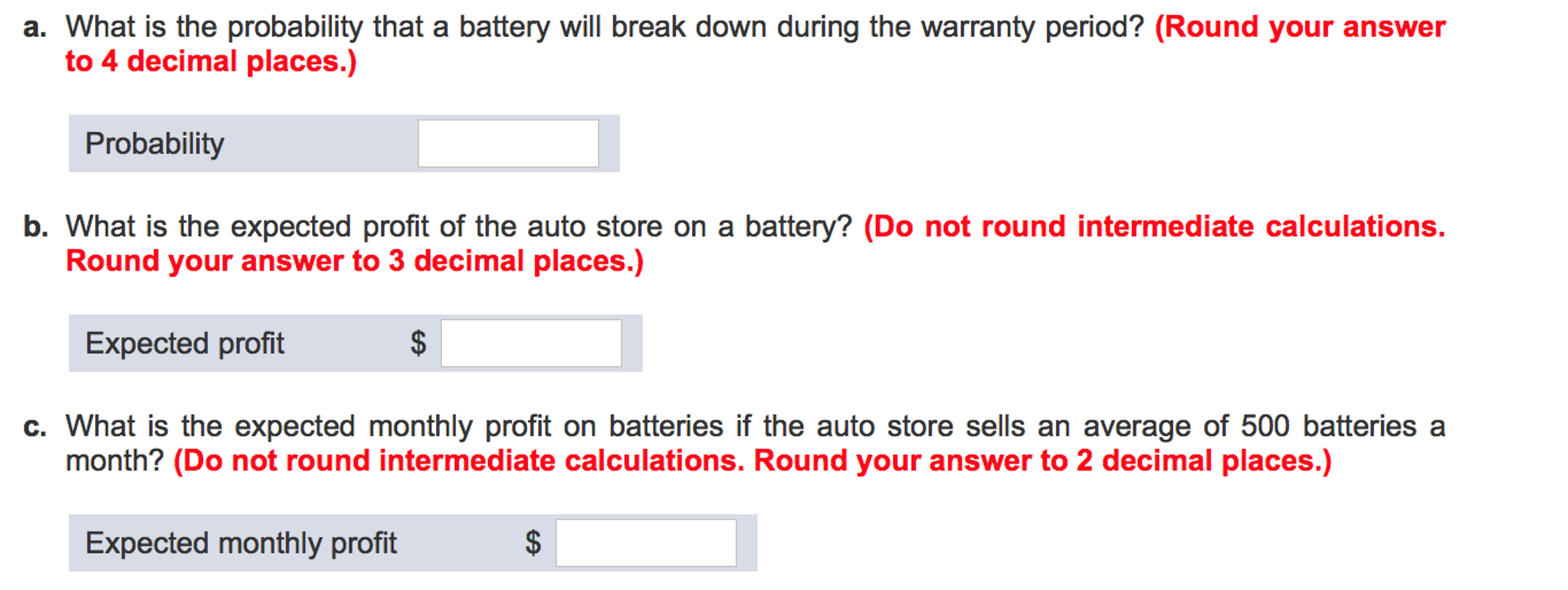 Solved A New Car Battery Is Sold With A Two Year Warranty