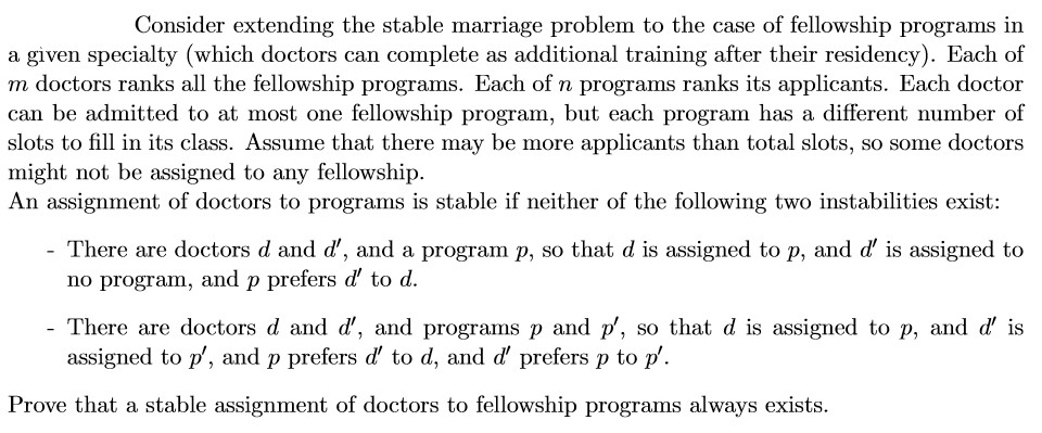 solved consider extending the stable marriage problem to