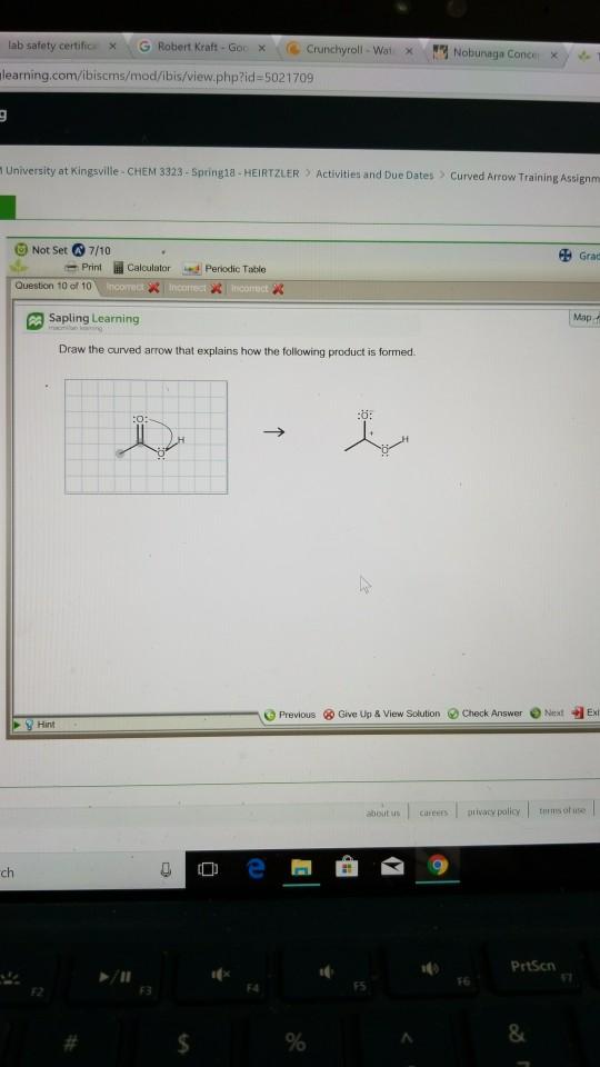 Solved: Lab Safety Certific X , G Robert Kraft-Go( , De Cr ...