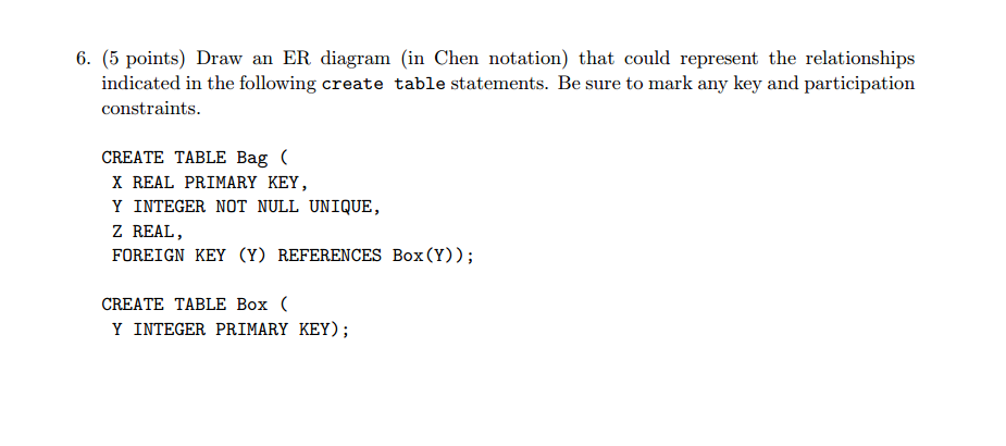 Draw an er diagram in chen notation that could r chegg draw an er diagram in chen notation that could r ccuart Choice Image
