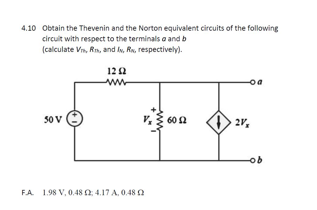 Thevenin Voltage Numerical Example Norton Equivalent
