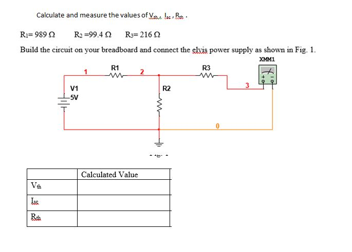 Calculate and measure the values of v i r vt chegg calculate and measure the values of v i r vtu is ccuart Images