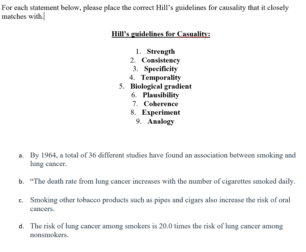 Solved: This Is A Epidemiology Question On The Hill's Guid
