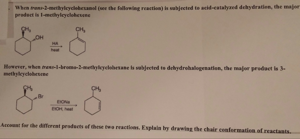 preparation of 4 methylcyclohexene from dehydration of 4 methylcyclohexanol Dehydration of 4-methylcyclohexanol purpose • dehydration of an alcohol • preparation of an alkene • distillation • unsaturation tests unless we stress the equilibrium using le chatelier's principle the 4-methylcyclohexene product will be co-distilled with the water that also.