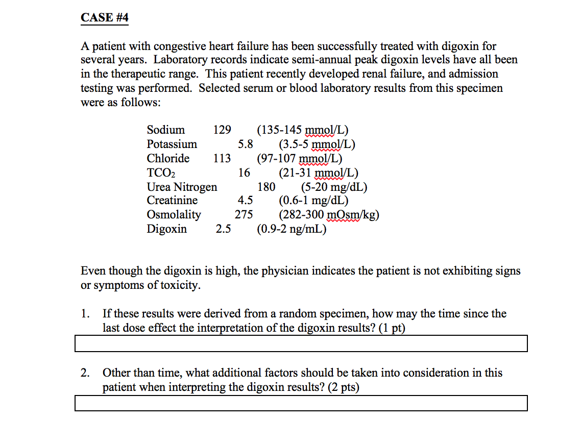 Clinical chemistry case studies answers