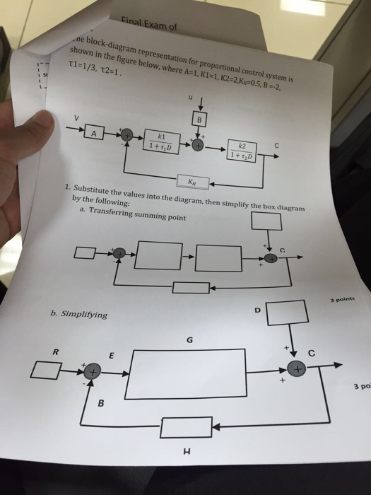 Solved the block diagram representation for proportional question the block diagram representation for proportional control system is shown in the figure below wh ccuart Gallery