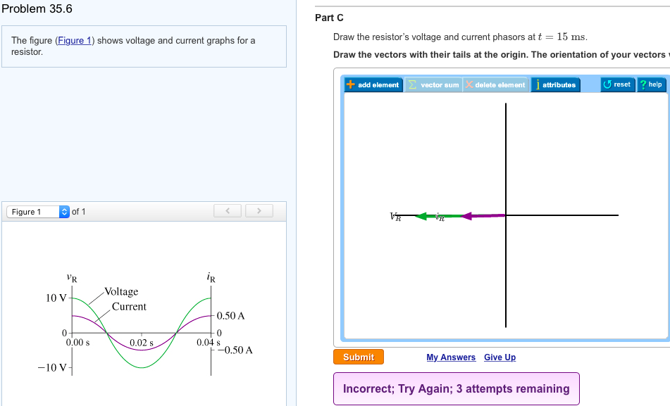 Solved: The Figure (Figure 1) Shows Voltage And Current Gr ...