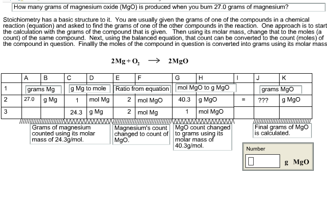 How Many Grams Of Magnesium Oxide Mgo Is Produced When You Burn 27 0 Grams
