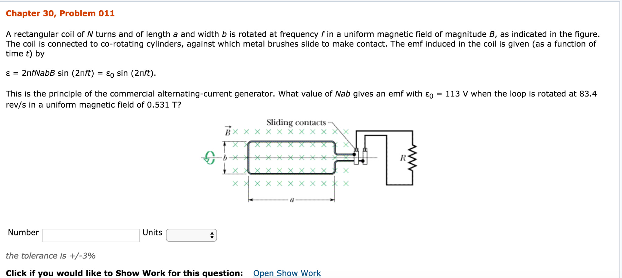 Solved A Rectangular Coil Of N Turns And Length Alternating Current Diagram B The Produced In
