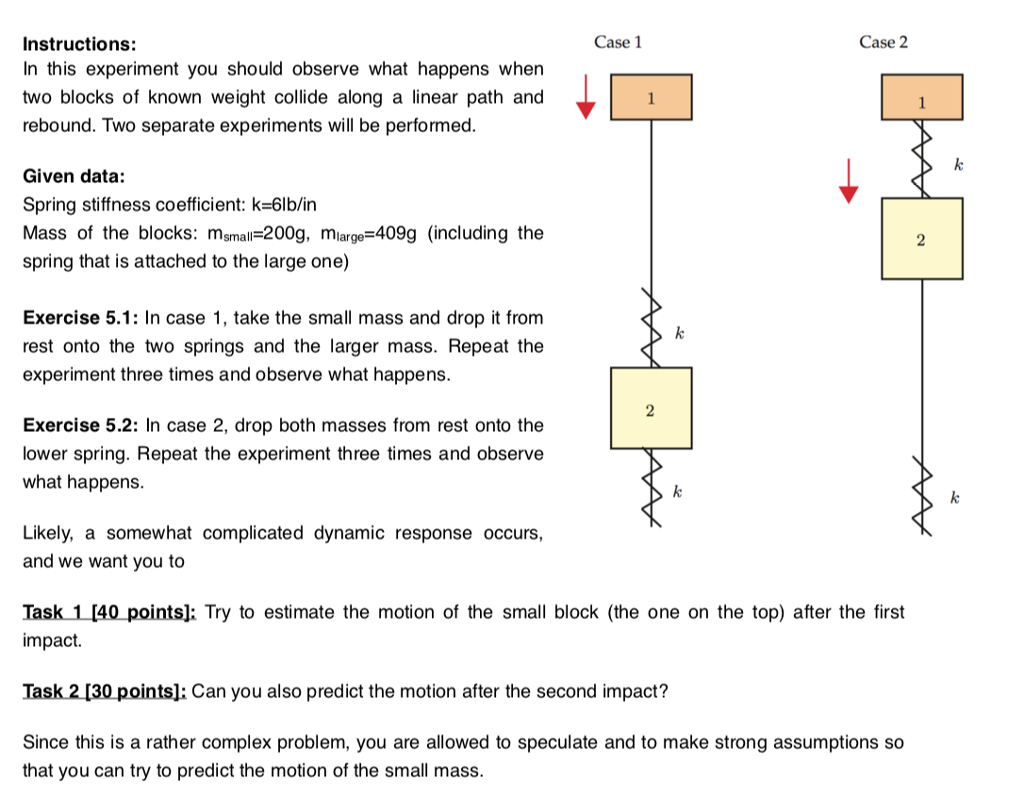 Solved Case 1 Case 2 Instructions In This Experiment You