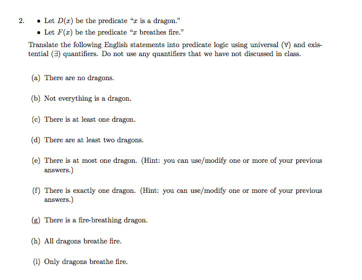 solved let d x be the predicate x is a dragon let f x rh chegg com Nakamichi Dragon Manual Dragon Dictate Manual